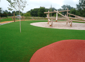 Nepgras in speelpark gekleurd en realistisch