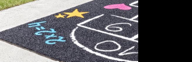 Grastapijt voor speelveld kindvriendelijk